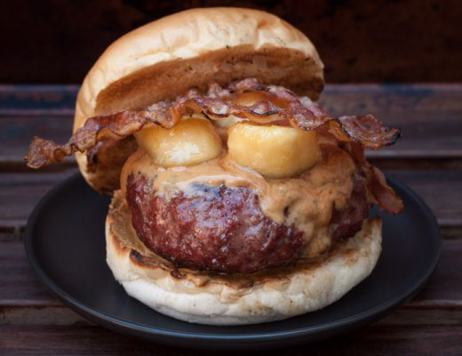 The Elvis Burger with peanut butter and banana